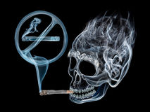 Das Rauchen ist gefährlich Lizenzfreies Stockfoto