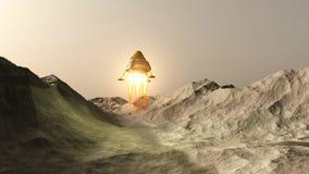 Das Raumschiff stock abbildung