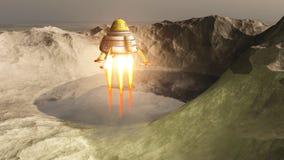 Das Raumschiff lizenzfreie abbildung