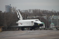 Das Raumschiffmodell das Buran-Raumfahrzeug stockbild