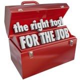 Das rechte Werkzeug für Job Toolbox Experience Skills Stockbilder