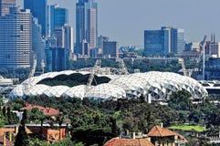 Das rechteckige Stadion Melbournes Stockfotos