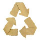Das Recycling-Symbol, das von zerrissen wird, bereiten Papier auf Lizenzfreie Stockbilder