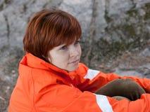 Das red-haired Mädchen Lizenzfreie Stockfotos