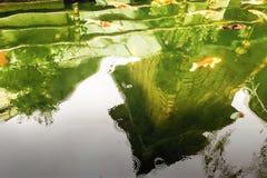 Das Reflexionsbild der Pagode der japanischen Art Stockbilder