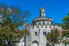 Das regelmäßige Kloster Abbazia di Novacella der Augustinian Kanone localed in Varna, Bozen in Süd- Tirol, Nord-Italien Lizenzfreie Stockfotos