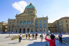 Das Regierungsgebäude von der Schweiz in Bern Stockfotos