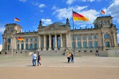 Das Reichstag Gebäude in Berlin Lizenzfreies Stockbild