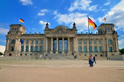 Das Reichstag Gebäude in Berlin Stockbilder