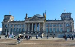 Das Reichstag Gebäude in Berlin Lizenzfreie Stockbilder