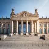 Das Reichstag-Gebäude - deutsches Parlamentsgebäude in Berlin Stockbild
