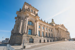 Das Reichstag-Gebäude - deutsches Parlamentsgebäude in Berlin Stockbilder