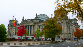 Das Reichstag Gebäude in Berlin, Deutschland Stockbilder