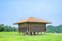 Das Reislagerhaus (a-Teil von Kikuchi Schloss-altes Japan) lizenzfreie stockbilder