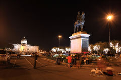 das Reiter-Monument König-Rama 5 Stockbild