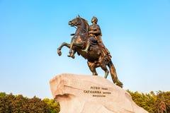 Das Reitermonument des russischen Kaisers Peter der Große, wissen Lizenzfreie Stockbilder