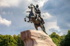 Das Reitermonument des russischen Kaisers Peter der Große, wissen Stockfotografie