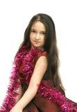Das reizende Mädchen mit dem langen Haar Lizenzfreies Stockbild