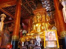 Das 4 Richtungen goldene Buddha-Bild in Thailand lizenzfreies stockbild
