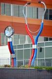 Das riesige Stethoskop Stockbild