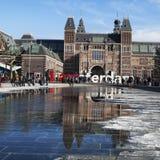 Das Rijksmuseum mit Wörtern Stockbild