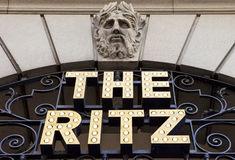 Das Ritz in London stockbild
