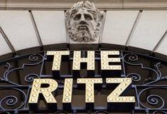 Das Ritz in London Stockbild