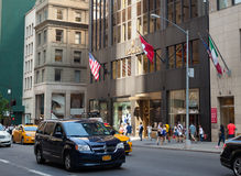 Das Rolex-Gebäude in Midtown Manhattan Lizenzfreie Stockbilder