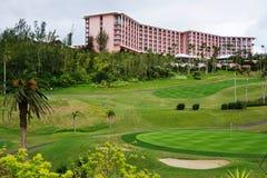 Das rosa Fairmont-Hotel in Southampton, Bermuda lizenzfreie stockfotografie