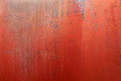 Das Rot, das gemalt wurde, verrostete, korrodiert, Bauernhof-Gas-Behälter-Hintergrund Lizenzfreies Stockbild