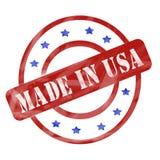 Das Rot und Blau verwittert gemacht in USA-Stempel kreist ein und spielt die Hauptrolle stock abbildung