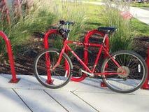 Das rote Fahrrad Lizenzfreies Stockfoto