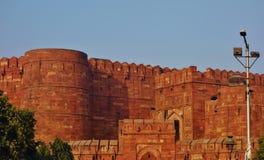 Das rote Fort in Agra, Indien stockbilder