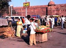 Das rote Fort, Delhi, Indien Stockbilder