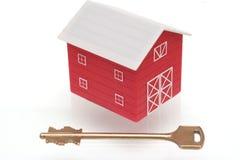 Das rote Haus Stockbild