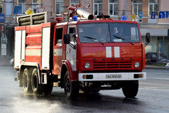 Das rote Löschfahrzeug Stockbild