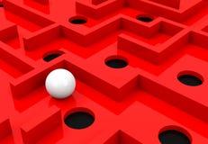 Das rote Labyrinth Stockbilder