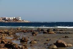 Das Rote Meer in Dahab von Ägypten Stockfotografie