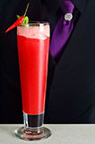 Das rote Paprika-Cocktail Stockfotografie
