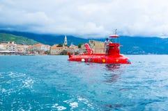 Das rote Unterseeboot Stockbild