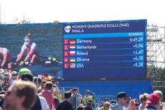 Das Rudersport der Frauen in den Olympics Rio2016 Stockbild