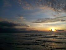 Das ruhige des Sonnenuntergangs Stockfoto