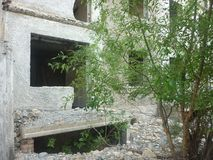 Das ruinierte Haus, das ich einmal herein lebte lizenzfreie stockbilder