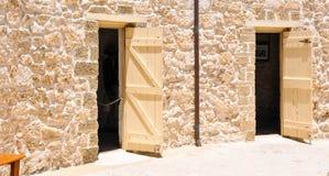 Das runde Haus: Kalkstein-historische Stätte Stockbild