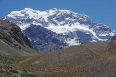 Das südliche Teil der Montierung Aconcagua Stockfotos