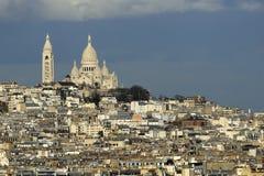 Das Sacre-Coeur, Paris. Stockbild
