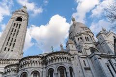 Das Sacre Coeur in Paris, Frankreich lizenzfreie stockbilder