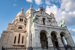 Das Sacre Coeur in Paris, Frankreich lizenzfreies stockbild