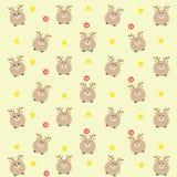 Das Sahnefarbliebe Muster mit Süßigkeit und Sternen Lizenzfreies Stockfoto