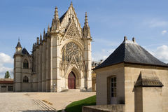 Das Sainte-Chapelle (heilige Kapelle) stockfotos